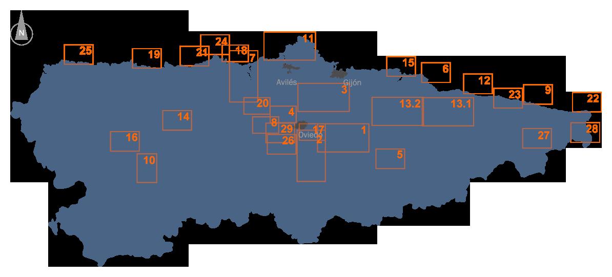 Mapa sistemas de saneamiento