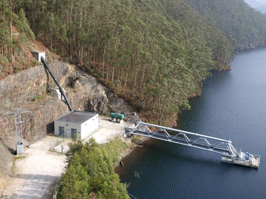 Captación y bombeo de agua para Estación de Tratamiento de Agua Potable de Arbón