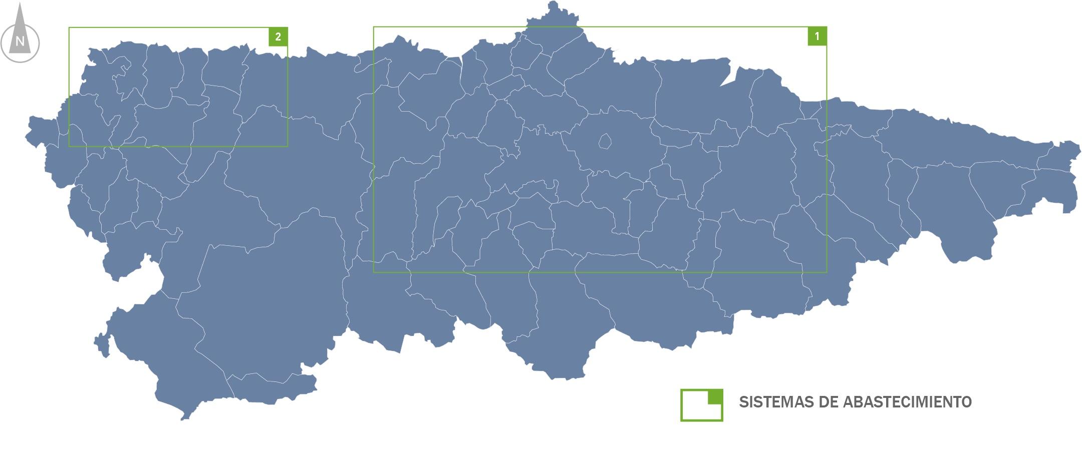 Mapa índice director de abastecimiento