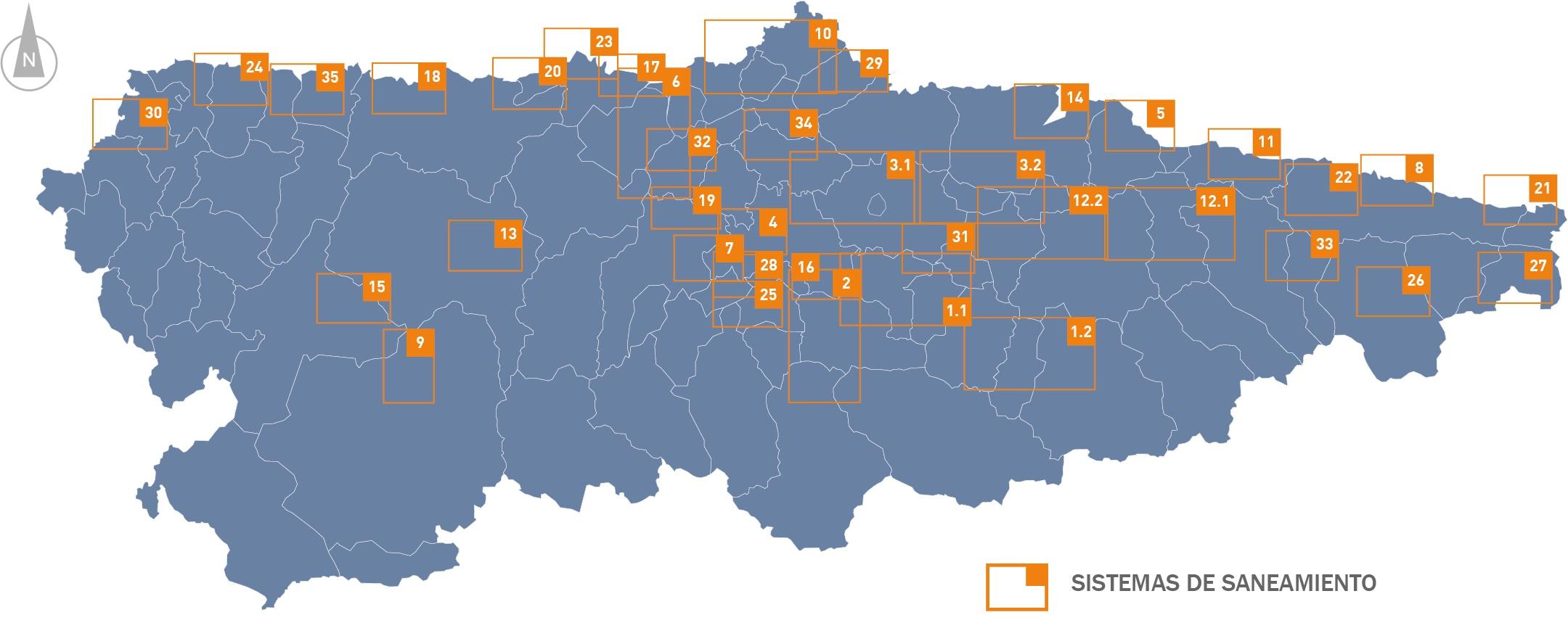 Mapa índice director de saneamiento