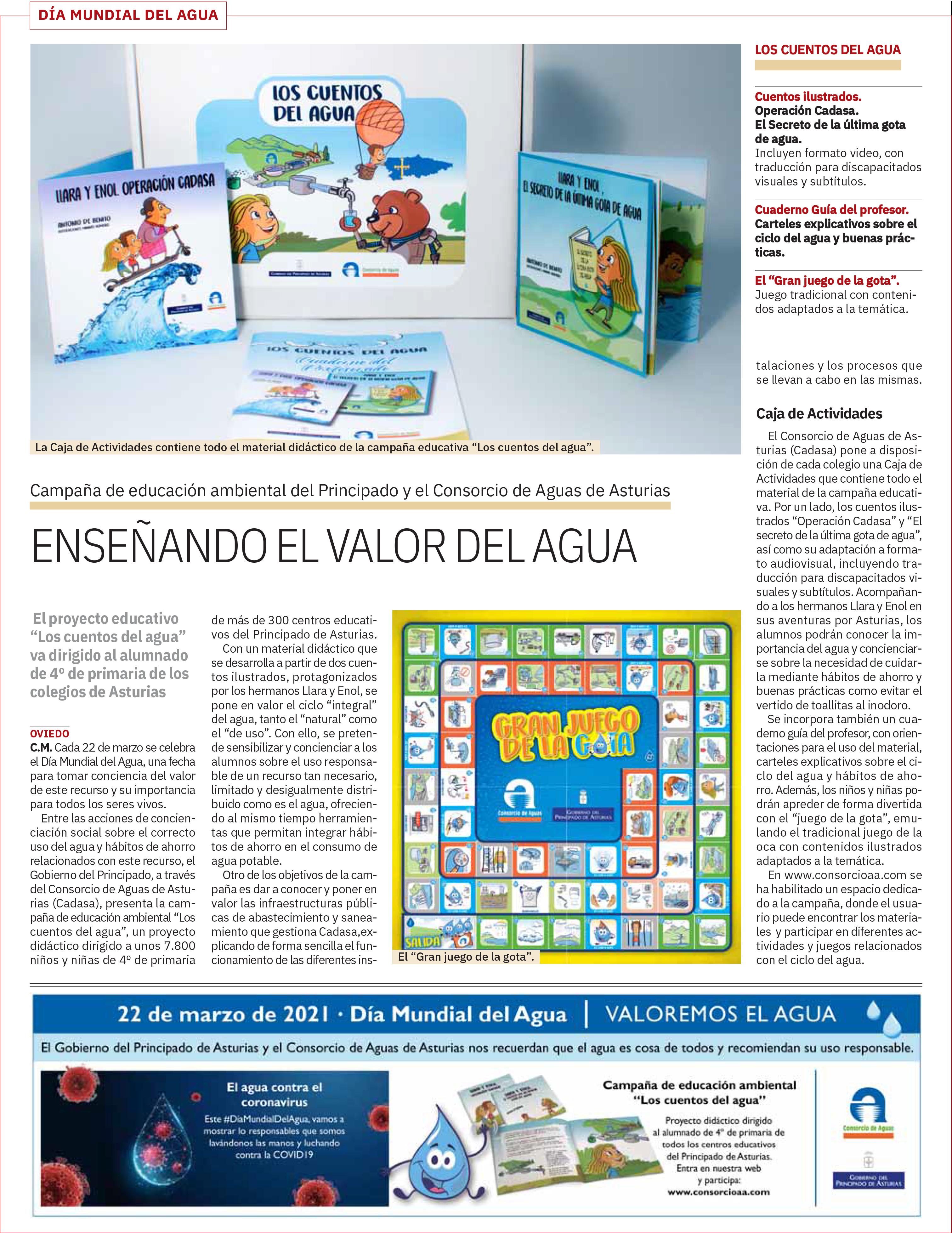 cuentos del agua anuncio en prensa