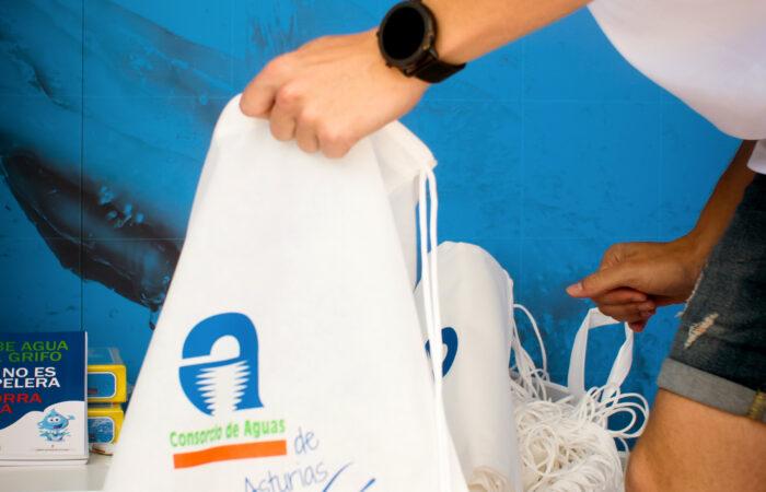 Cadasa en Kuivi. Nuestra bolsa de regalos para los participantes