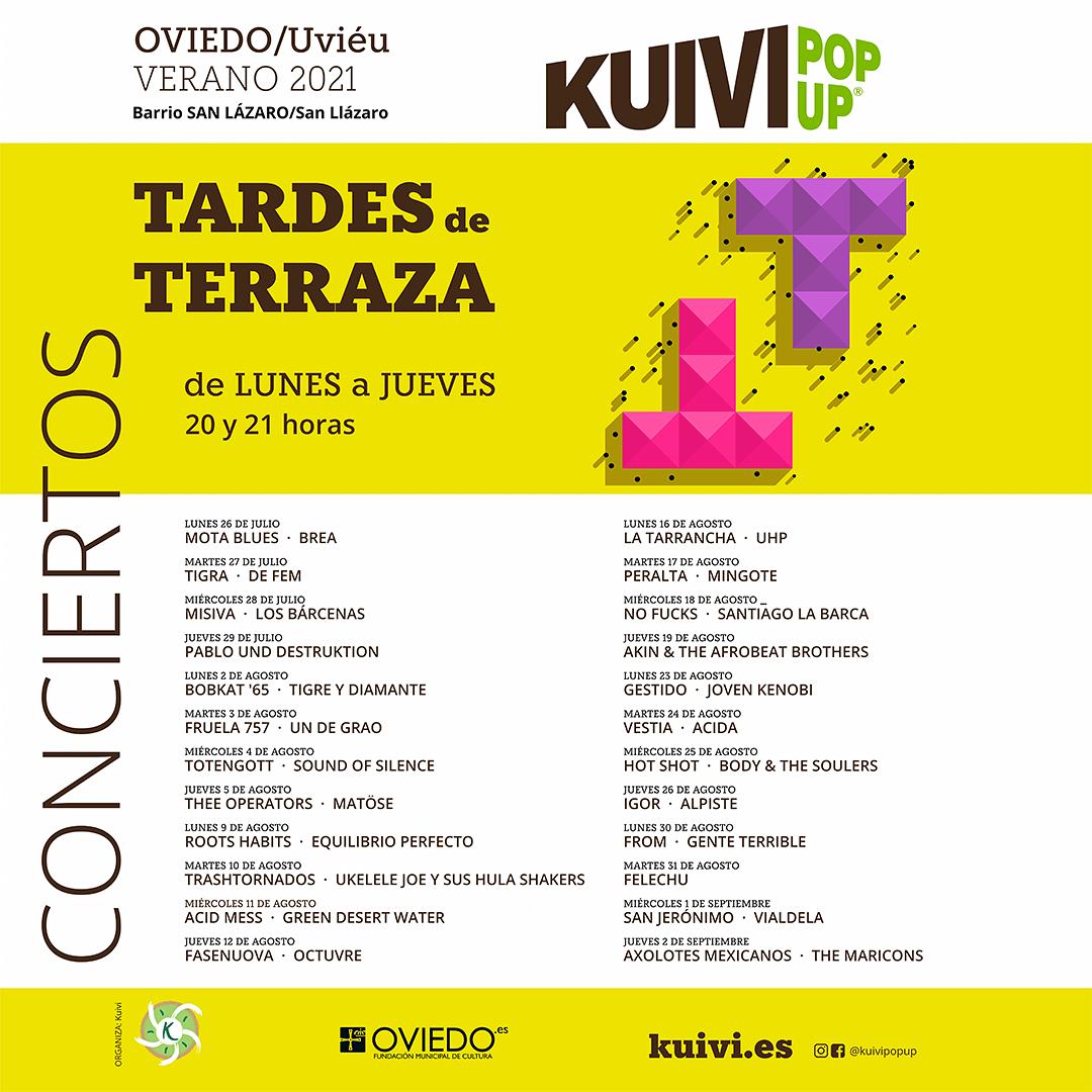 cartel conciertos kuivi pop up