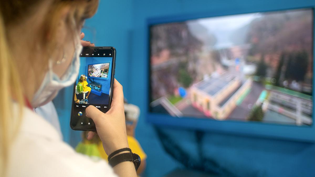 compartiendo video inmersivo 360 en pantalla